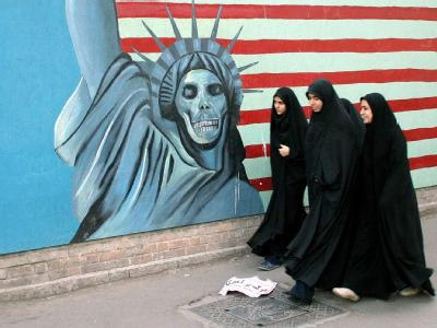 Anti-Amerikanisches Wandbild in Teheran