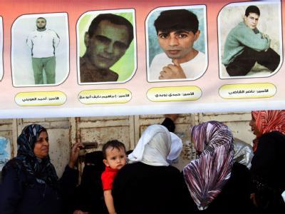 Angehörige von palästinensischen Häftlingen: Die Vorbereitungen für die Freilassung laufen an. Foto: Mohammed Saber