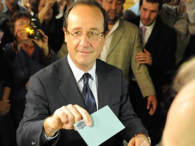 François Hollande wird gegen Amtsinhaber Nicolas Sarkozy antreten. Foto: Caroline Blumberg