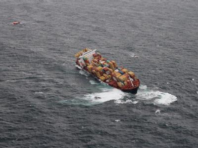Verungl�cktes Containerschiff 'Rena'