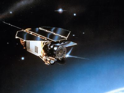 Eine undatierte Zeichnung des Satelliten Rosat. Foto: EADS Astrium