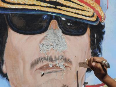 Gaddafis Leiche ist an «einem geheimen Ort in der Wüste» beerdigt worden. Foto: Circo Fusco