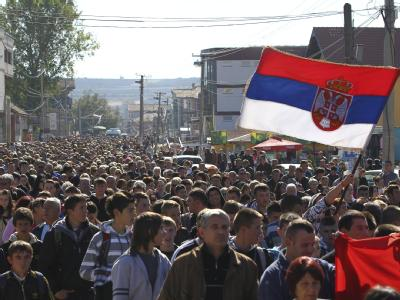 Serben-Protest