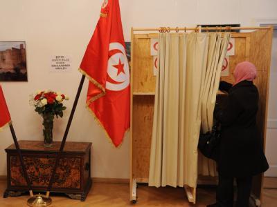 Wahllokal in tunesischer Botschaft