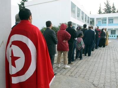 Die Wahlen finden nur neun Monate nach der Revolution statt. Foto: epa/Str