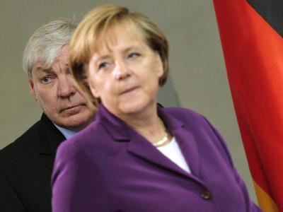 Bundeskanzlerin Angela Merkel (CDU) und DGB-Chef Michael Sommer. Archivfoto: Hannibal