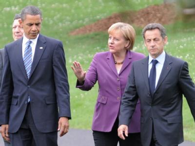 Obama, Merkel und Sarkozy