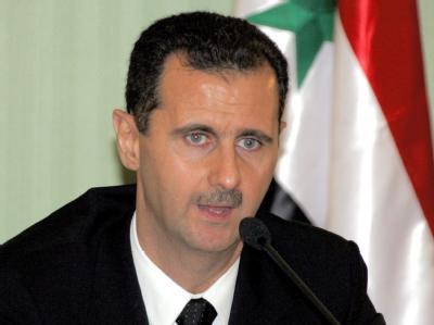 Syriens Präsident Bashar al-Assad bei einer Pressekonferenz in Damaskus. Archivfoto: Badawi