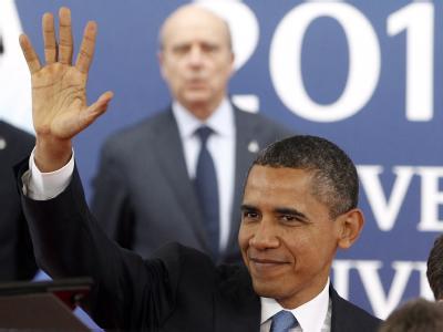 US-Präsident Obama lobt die Rolle von Kanzlerin Merkel bei den Euro-Krisenverhandlungen. Foto: Guillaume Horcajuelo