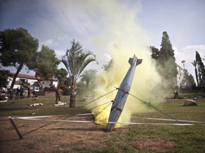 Heimatschutzübung gegen Raketenangriffen von außen: In Israel wird intensiv über einen Militärschlag gegen Iran diskutiert. Foto: Oliver Weiken