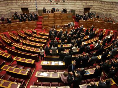 Im Parlament gibt es fünf anerkannte Parteien und zwei Gruppierungen. Foto: Alexandros Vlachos