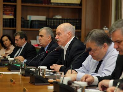 Kabinettssitzung in Athen