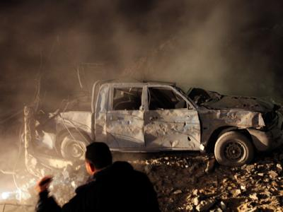 Die israelische Luftwaffe hat erneut Ziele im Gazastreifen angegriffen. Nach Angaben eines Militärsprechers galt der Angriff einem Komplex der radikalislamischen Hamas. Foto: Mohammed Saber