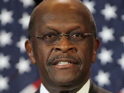 Der republikanische Präsidentschaftsbewerber Herman Cain geriet jetzt ins Stolpern, als er nach seiner Meinung zur Libyen-Politik von Präsident Obama gefragt wurde. Foto:Roy Dabner