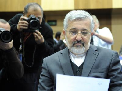 Irans Vertreter bei der IAEA, Ali Asghar Soltanieh: Der Druck auf die iranische Führung wächst. Foto: Roland Schlager