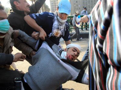 Verletzter Demonstrant in Kairo