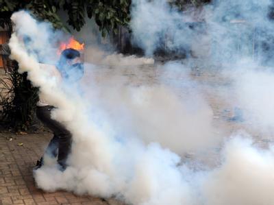 Tränengas-Einsatz