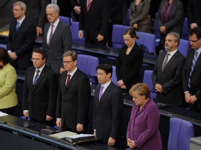 Gedenken an die Opfer der Mordserie der Neonazi-Bande im Bundestag. Foto: Hannibal