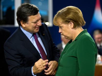 Barroso und Merkel