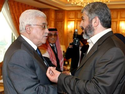 Chalid Maschaat und Mahmud Abbas