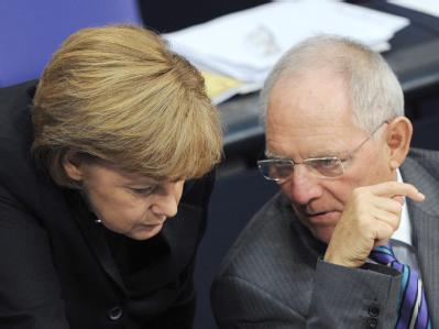 Bundestag - Merkel und Sch�uble