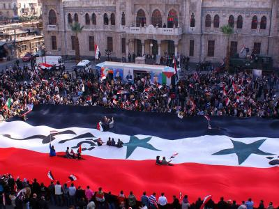 Proteste in Damaskus: Seit Beginn der Unruhen im Frühjahr sollen in Syrien mehr als 4000 Menschen getötet worden sein. Foto: Sana/Archiv