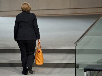 Kommt nicht so schnell aus der Puste: Bundeskanzlerin Merkel. Foto: Robert Schlesinger