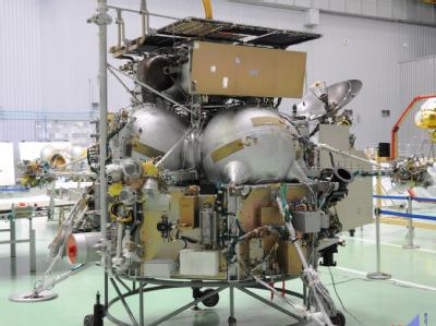 Die russische Raumsonde Phobos-Grunt hier noch bei Startvorbereitungen. Foto: EPA/Archiv