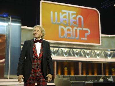 Thomas Gottschalk in seiner letzten «Wetten, dass...?»-Show in der Rolle des Moderators. Foto: Jörg Koch