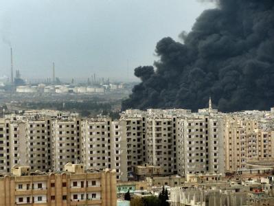 Rauchschwaden in Homs