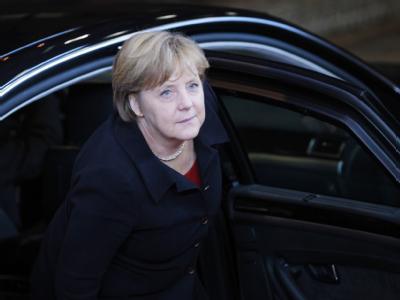 Kanzlerin Merkel lobte den Kompromiss als «sehr gutes Ergebnis». Foto: Olivier Hoslet
