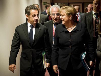 Sarkozy und Merkel in Brüssel