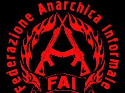 Das Logo der italienischen Anarchistengruppe «Federazione Anarchica Informale» (FAI). Foto: dpa