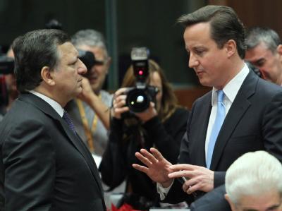 Jos� Manuel Barroso und David Cameron