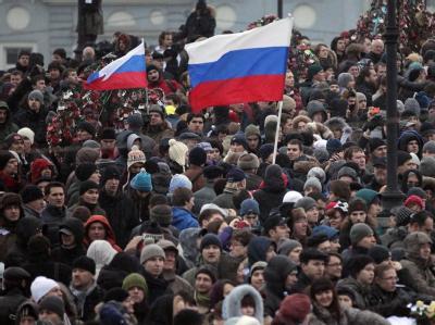 Massenprotest in Moskau