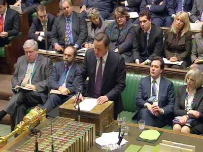 Der britische Premier David Cameron hat seine Blockadehaltung beim jüngsten EU-Gipfel gegen heftige Kritik im Unterhaus verteidigt. Foto: epa/Video Grab