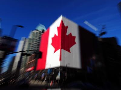Kanadische Flagge in Vancouver