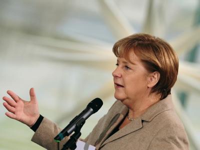 Der Widerstand gegen Rassismus und Antisemitismus ist für Kanzlerin Merkel nicht nur Aufgabe der Behörden, sondern auch der ganzen Zivilgesellschaft. Foto: Hannibal/Archiv