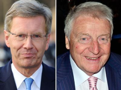 Die BW-Bank hat bestätigt, dass der Unternehmer Egon Geerkens (r) den Kontakt für Wulffs Kreditgeschäft herstellte. Foto: Tim Brakemeier/AEDT.de