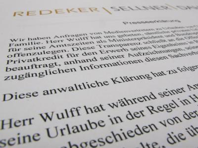 Liste der Urlaubsreisen von Wulff