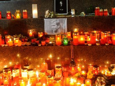 Gedenken an Havel in Prag
