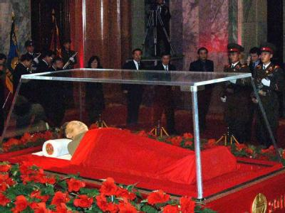 Kim Jong Il aufgebahrt