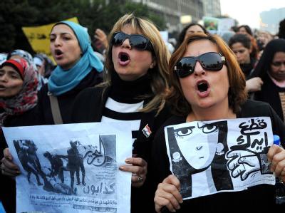 Frauen demonstrieren in Kairo