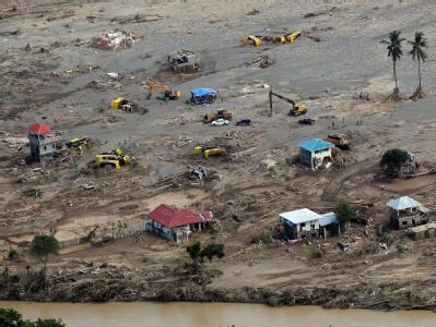 Zerstörung im Katastrophengebiet im Süden der Philippinen. Die Zahl der Todesopfer des Unglücks steigt weiter. Foto: Gil Nartea/Malacanang Foto-Büro