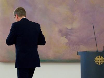 Pressekonferenz Bundespr�sident Christian Wulff