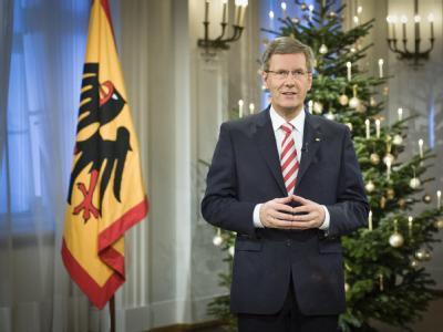 Bundespräsident ChristianWulff legt bei seiner Weihnachtsansprache den Schwerpunkt auf die Verteidigung der Demokratie: Foto: Bundespresseamt/Jesco Denzel