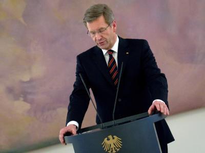 Bundespräsident Wulff nimmt Stellung zu der Debatte um seinen Privatkredit im Schloss Bellevue in Berlin. Foto: Michael Kappeler