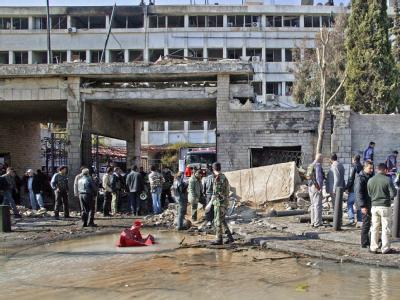 Ein Anschlag hat einem Gebäude des syrischen gheimdienstes gegolten. Foto: Syrian Arab News Agency (SANA)