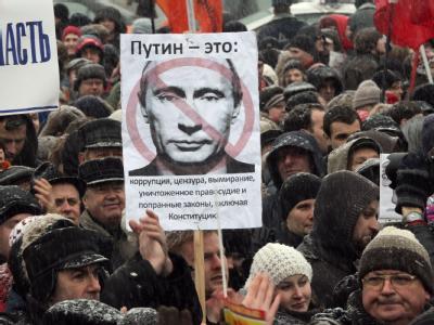 Die Stimmung kippt: Solche Bilder wären in Moskau bis vor kurzem undenkbar gewesen. Foto: Anatoly Maltsev