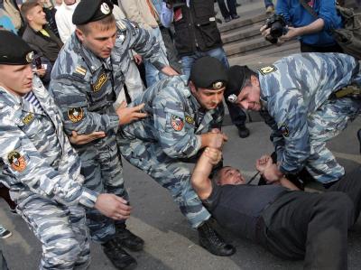 Die russische Sonderpolizei OMON